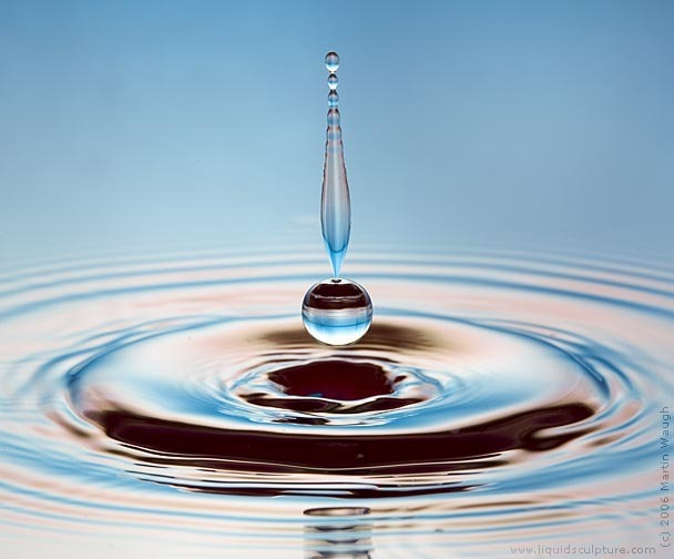 Water drop photograph by Martin Waugh