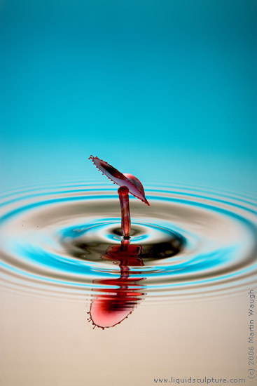 "Water Drop image called ""BigHatLittleHead"", (c) 2011 Martin Waugh"