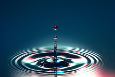 Classic splash of a water drop